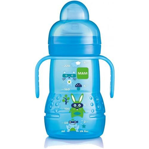 MAM Trainer Bottle 220 ml 1 pack BOY - Hushabyebaby.co.uk
