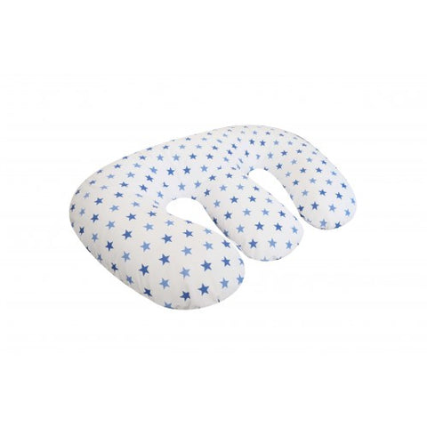 CUDDLES NURSING PILLOW COVER TWIN BLUE STAR - Hushabyebaby.co.uk