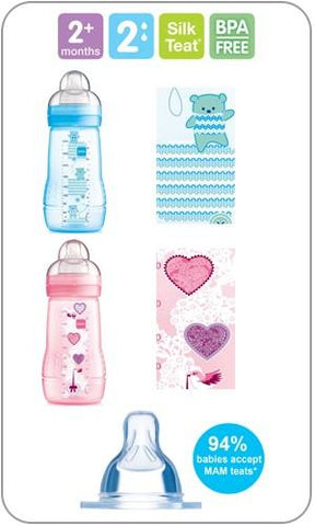MAM Baby Bottle 270 ml 1 pack - Hushabyebaby.co.uk
