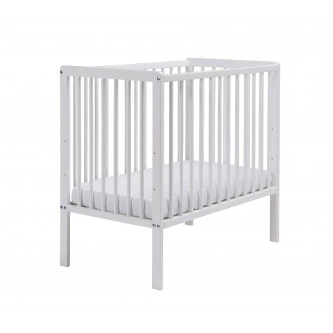 East Coast Nursery Cot Space With Mattress - White - Hushabyebaby.co.uk