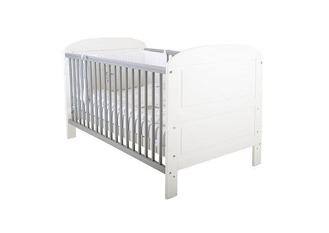 East Coast Nursery Cotbed Angelina White/Grey - Hushabyebaby.co.uk
