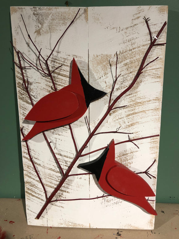 Hanging Garden Ornaments - Cardinals