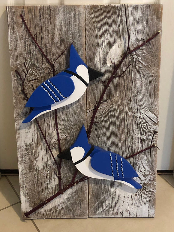 Hanging Garden Ornament - Blue Jays