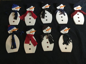 Christmas Wall Hanging - Snowman with Hat & Scarf