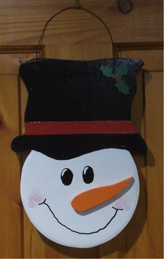Christmas/Winter Wall Hanging - Snowman Head