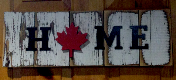 "Hanging Indoor/Outdoor Sign - ""H🍁ME"""