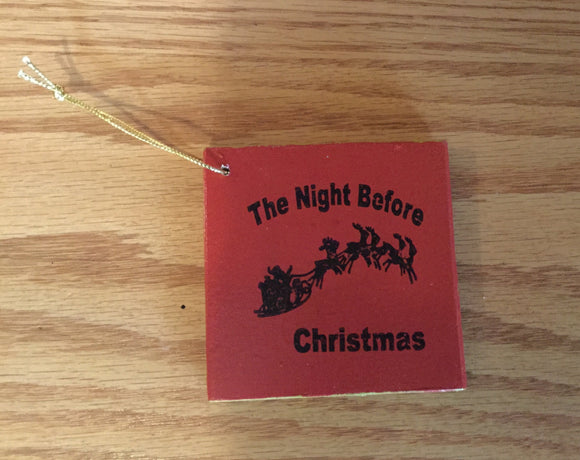 "Christmas Ornament - Book  ""The Night Before Christmas"""