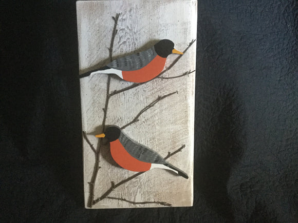 Hanging Garden Ornament - Robins