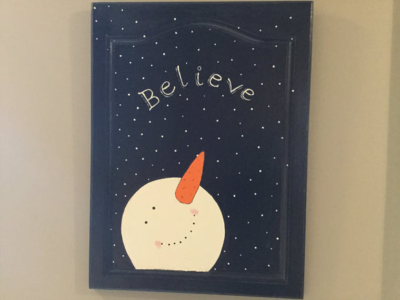 "Christmas Wall Hanging - ""Believe"""