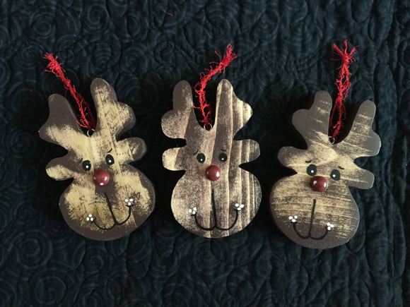 Christmas Ornament - Reindeer Head