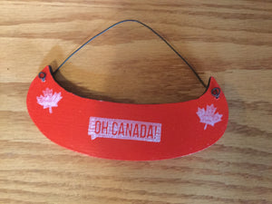 "Christmas Ornament - ""Oh Canada"" Canoe (Red)"