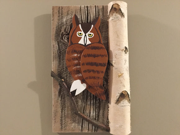 Hanging Garden Ornament - Great Horned Owl