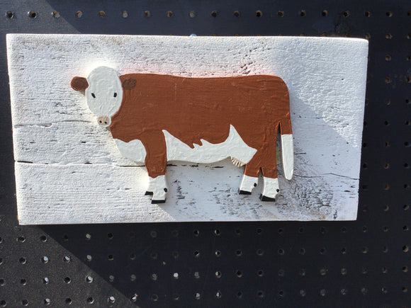 Hanging Garden Ornament - Hereford Cow