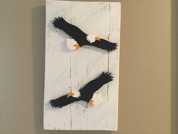 Hanging Garden Ornaments - Bald Eagles