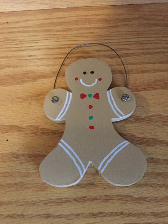 Christmas Ornament - Gingerbread Man with Bowtie