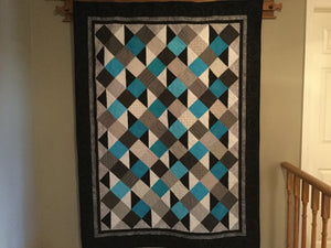 "Quilt - ""Simply Serene"" - Turquoise"