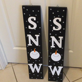 "Winter Wall Hanging - ""Snow"""