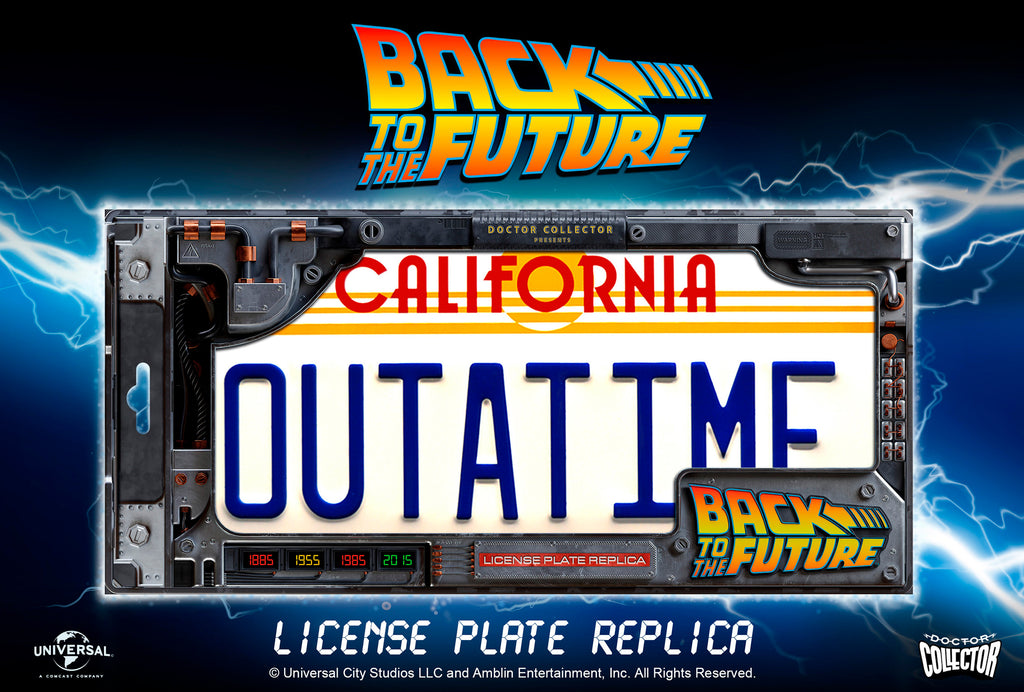 doctor collector back to the future license plate replica