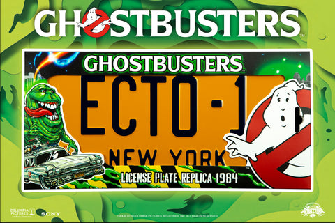 doctor collector ghostbusters replica license plate