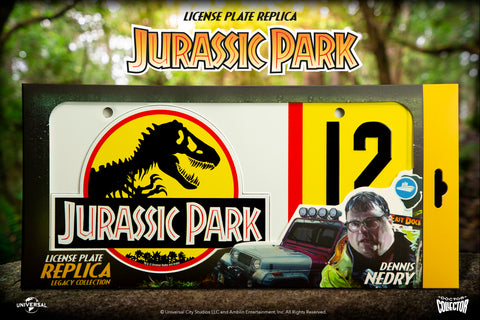 Jurassic Park - Dennis Nedry License Plate Replica - Doctor Collector