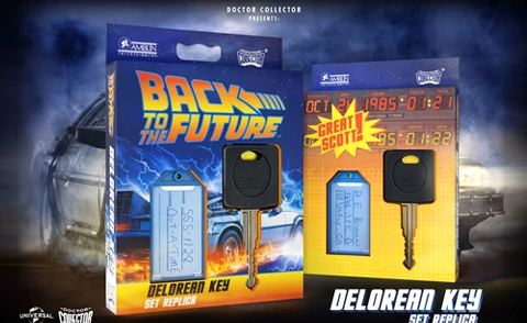back to the future delorean key replica