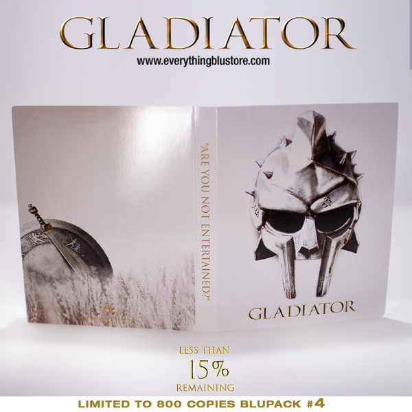 BluPack™ 004: Gladiator Blu-ray SteelBook 4K+BD+Bonus BD EverythingBlu Exclusive