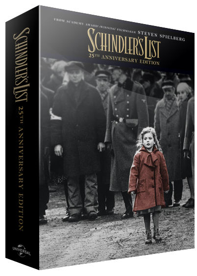 BluPack 001: 25th Anniversary Schindler's List Bluray SteelBook 4K+BD+Bonus EverythingBlu Exclusive