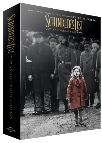 BluPack™ 001: 25th Anniversary Schindler's List Bluray SteelBook 4K+BD+Bonus EverythingBlu Exclusive