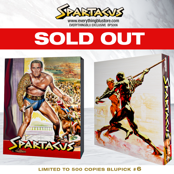 EverythingBlu BPS 006: Spartacus 60th Anniversary 4K + Blu-ray SteelBook