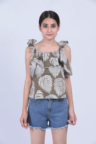Green Banana Leaf Top - Brinda's Store
