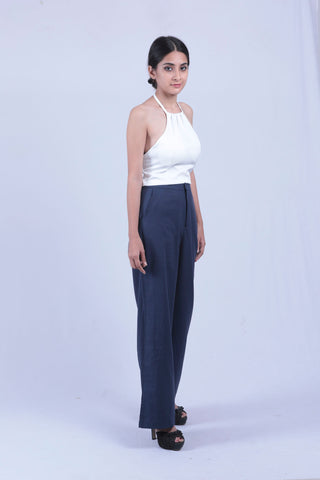 Blue Coloured Straight Fit Trouser - Brinda's Store