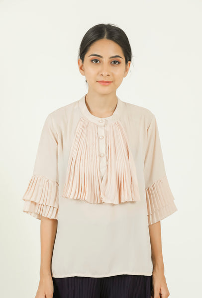 Cream Coloured Shirt #IBL2176 - Brinda's Store