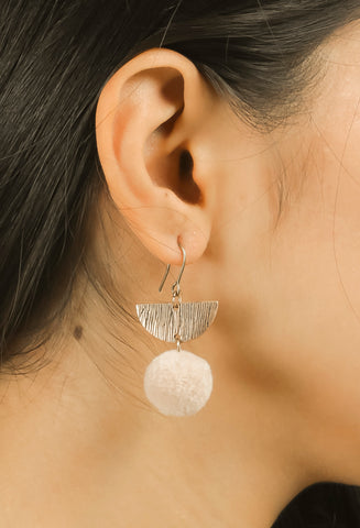 Tan Brown & Copper Delicate Earrings #AL783