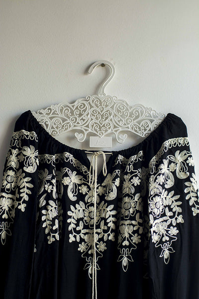 Black Embroidered Top - Brinda's Store