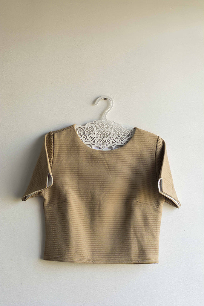 Women Brown Knitted Crop Top - Brinda's Store