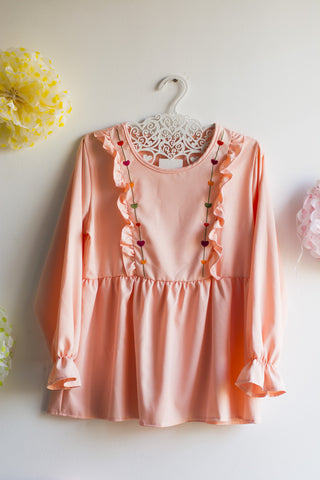 Pink Embroidered Top