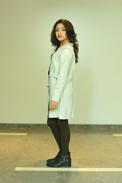 Light Grey Coat #IBL1314 - Brinda's Store