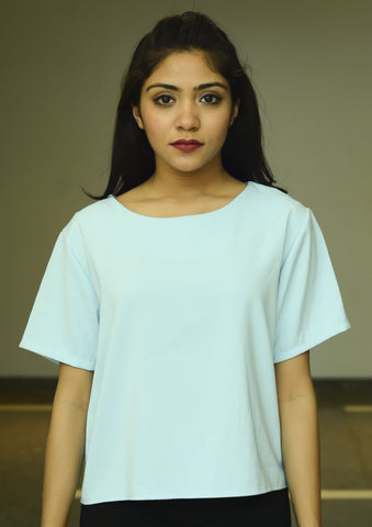 Sky Blue Regular Fit Top - Brinda's Store
