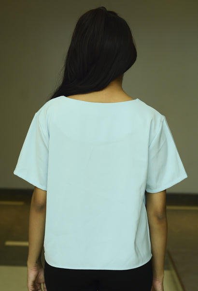 Sky Blue Regular Fit Top