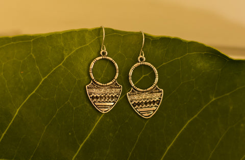 Silver Tribal Earrings #AL460