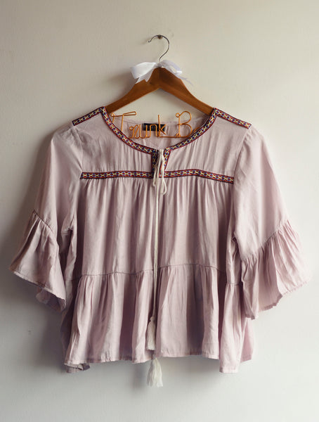 Light Pink Free Style Boho Top