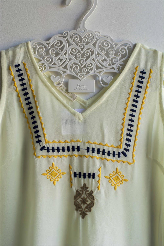 Women Off White Embroidered Top - Brinda's Store