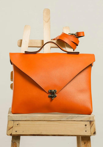 Orange Sling Hang Bag #IBBL202 - Brinda's Store
