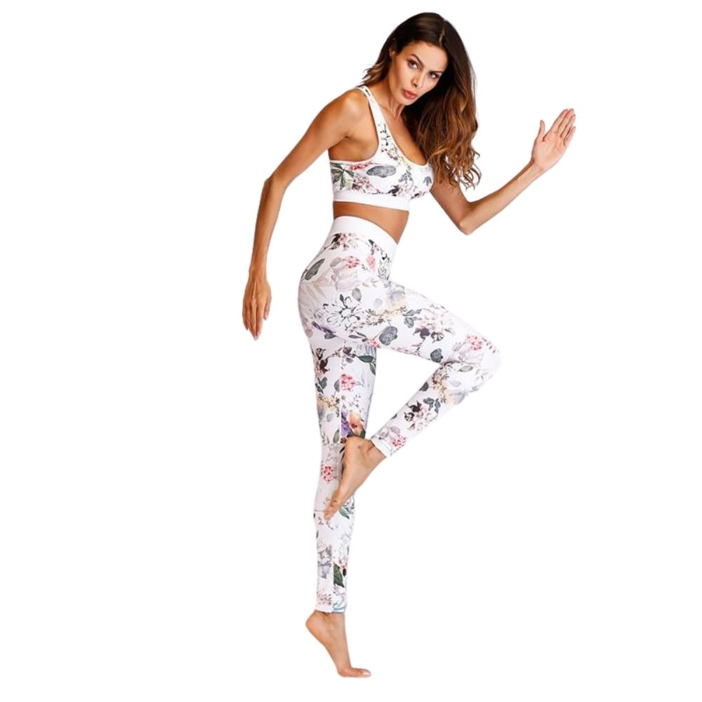 Floral Women Yoga Set