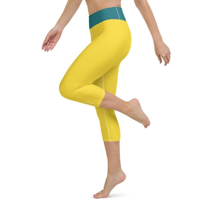 Yoga Capri Leggings Yellow