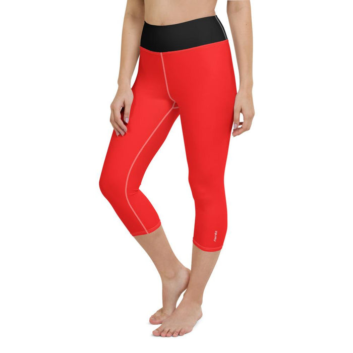 Yoga Capri Leggings Red