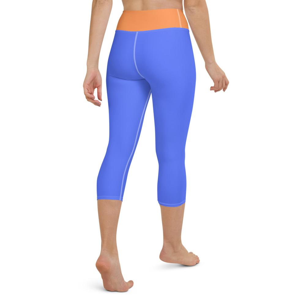 Yoga Capri Leggings Blue
