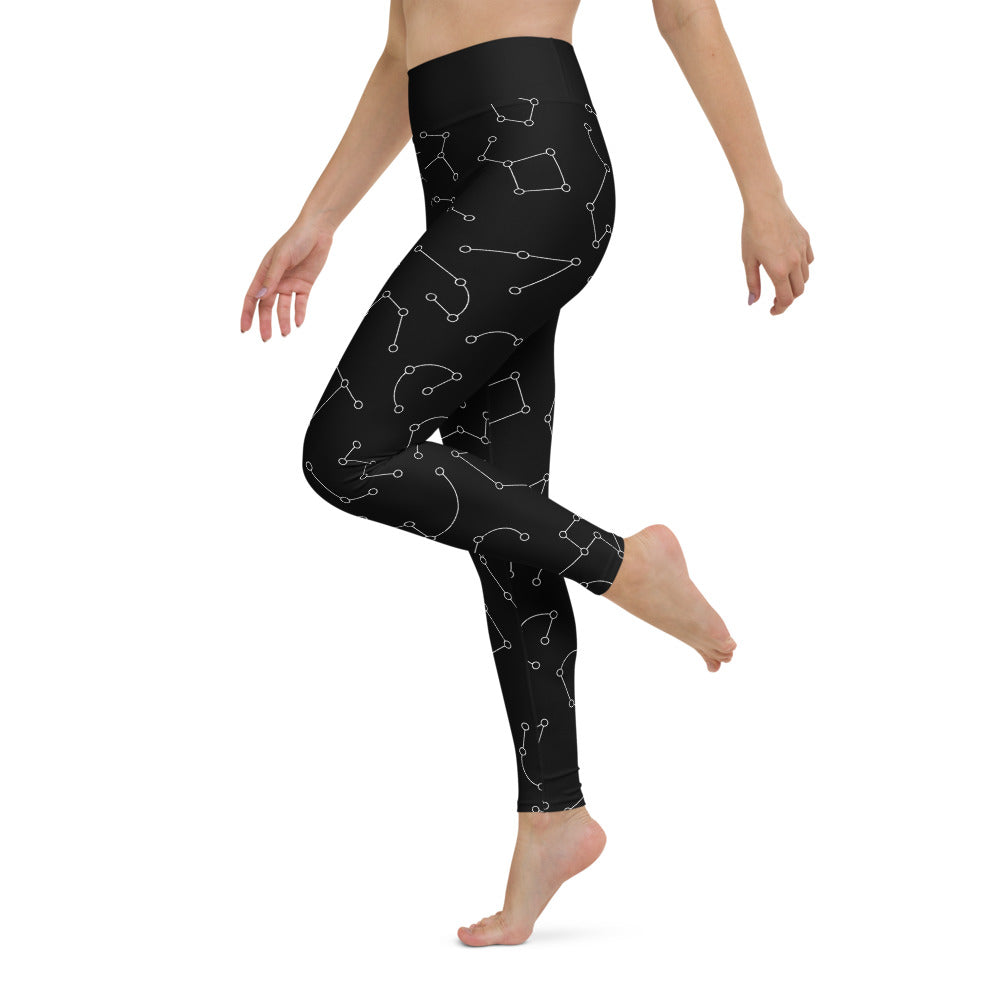 Yoga Leggings Sky Map Night