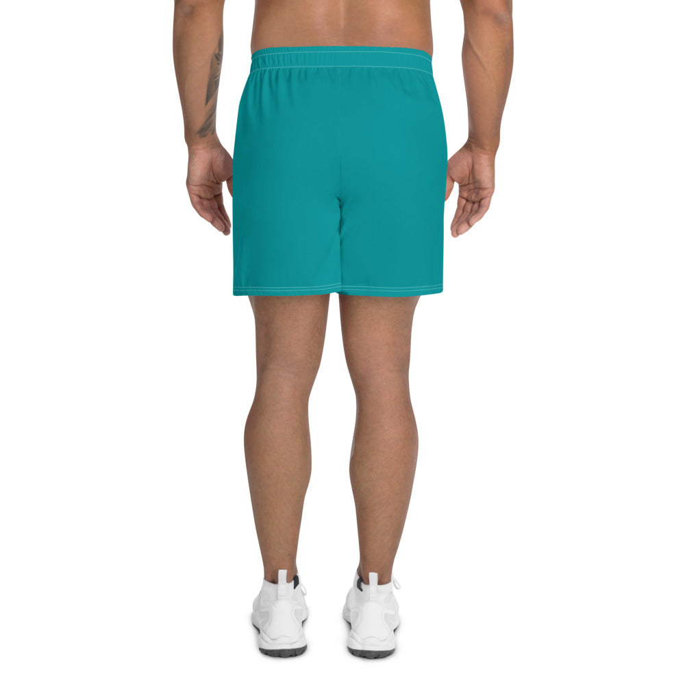 Men's Athletic Long Shorts Aqua