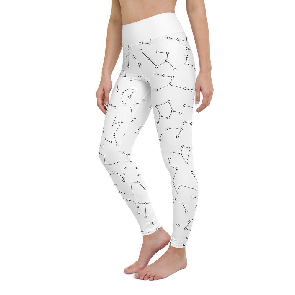 Yoga Leggings Sky Map Day